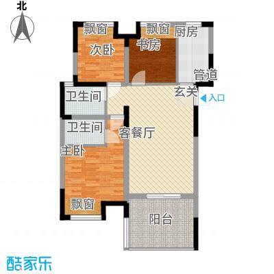 莱茵郡108.43㎡莱茵3户型图G3户型3室2厅2卫1厨户型3室2厅2卫1厨