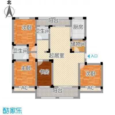 芦墅星苑170.74㎡E户型4室2厅2卫1厨