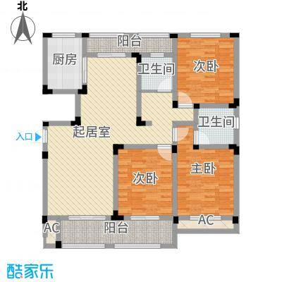 芦墅星苑152.04㎡D户型3室2厅2卫1厨