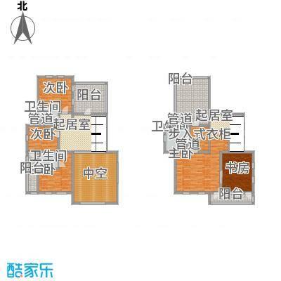 御翠园御翠园户型图B3二三层平面户型10室