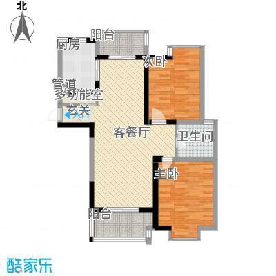 世纪华城106.00㎡世纪华城户型图A52室2厅1卫1厨户型2室2厅1卫1厨