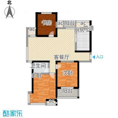 世纪华城122.00㎡世纪华城户型图A43室2厅1卫1厨户型3室2厅1卫1厨