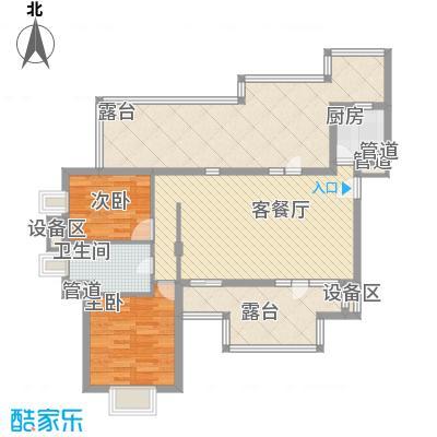 华业玫瑰谷别墅106.89㎡华业玫瑰谷户型图洋房J户型图2室2厅户型2室2厅