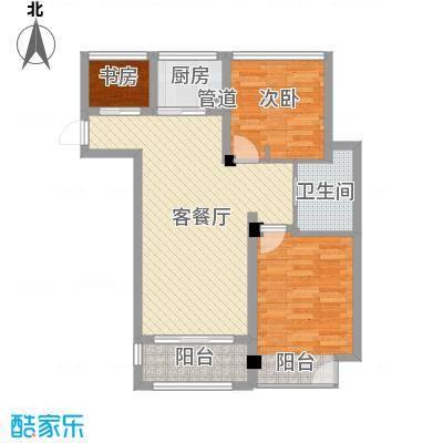 津通国际智慧谷88.00㎡C户型2室2厅1卫1厨
