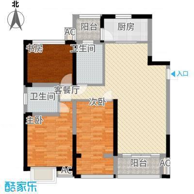 弘建一品118.00㎡弘建一品户型图二期10号楼A户型2室2厅2卫1厨户型2室2厅2卫1厨