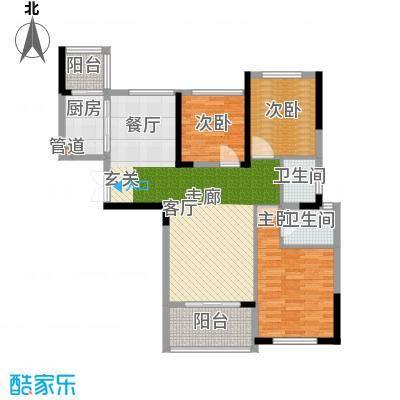 御城103.48㎡58号楼户型3室2厅2卫1厨