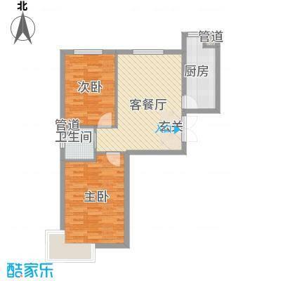 福苑84.30㎡二期J户型2室2厅
