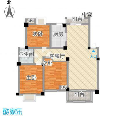 阳湖名城123.00㎡B3型户型3室2厅1卫1厨