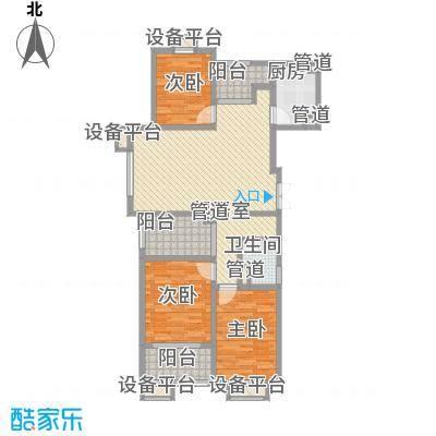 新城公馆127.88㎡新城公馆户型图尊域B13室2厅1卫1厨户型3室2厅1卫1厨