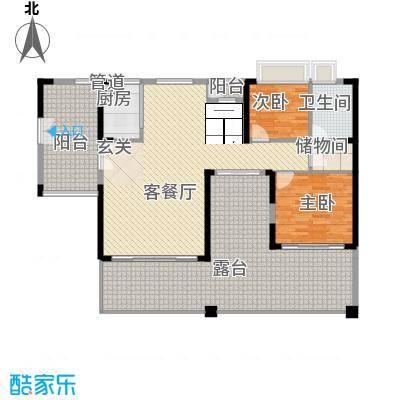 月潭半山洋房80.00㎡月潭半山洋房2室户型2室