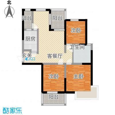 书香院125.64㎡睿景空间户型3室2厅1卫1厨