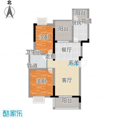 临港新城小区上海户型2室2厅1卫1厨