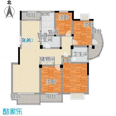 金色新城熙园157.24㎡金色新城熙园户型图4室2厅2卫1厨户型10室