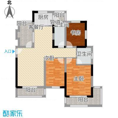 嘉州枫景苑130.20㎡C户型3室2厅2卫1厨