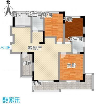 嘉州枫景苑128.00㎡嘉州枫景苑128.00㎡3室2厅2卫1厨户型3室2厅2卫1厨