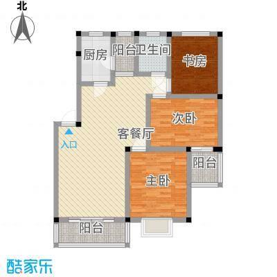 河苑家园114.73㎡四期B户型3室2厅1卫1厨
