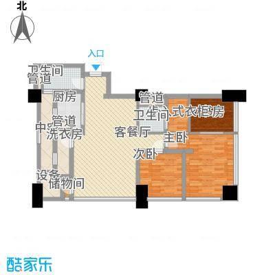 公园壹号国际公寓139.11㎡天寓B户型3室2厅2卫1厨