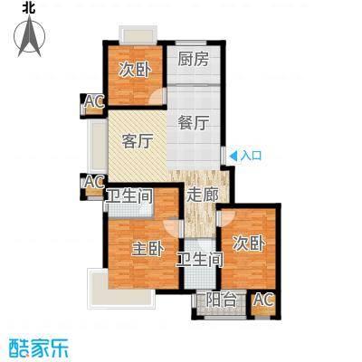 荣盛馨河郦舍116.53㎡荣盛馨河郦舍户型图D1户型3室2厅2卫1厨户型3室2厅2卫1厨