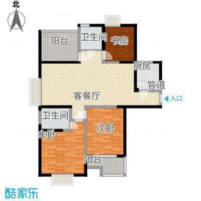 阳光福地141.68㎡户型3室2厅2卫1厨