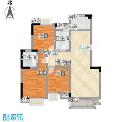 五一花园124.08㎡五一花园户型图3室2厅2卫1厨户型10室
