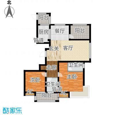荣盛馨河郦舍122.54㎡荣盛馨河郦舍户型图K户型3室2厅2卫1厨户型3室2厅2卫1厨