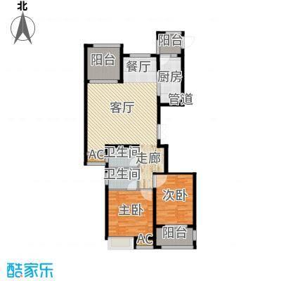 荣盛馨河郦舍117.90㎡荣盛馨河郦舍户型图二期J户型2室2厅2卫1厨户型2室2厅2卫1厨