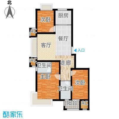 荣盛馨河郦舍117.16㎡荣盛馨河郦舍户型图D1户型3室2厅2卫1厨户型3室2厅2卫1厨
