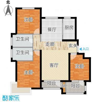 荣盛馨河郦舍130.62㎡荣盛馨河郦舍户型图E1户型3室2厅2卫1厨户型3室2厅2卫1厨