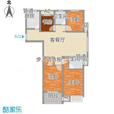 锦海星城二期锦海尚城户型图8#c2户型 4室1厅2卫1厨