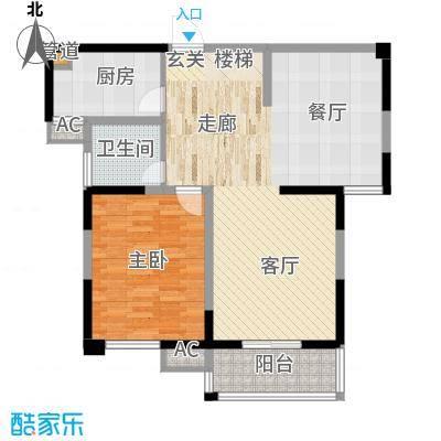 府西花园85.00㎡B-1户型1室2厅1卫1厨