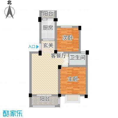 新城玉龙湾84.00㎡现有户型约84平米户型2室2厅1卫1厨
