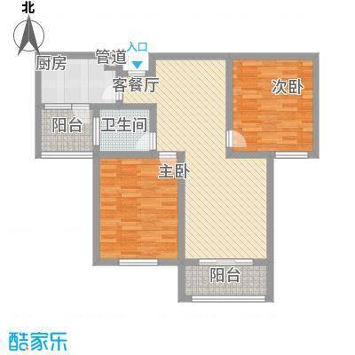 天山花园100.00㎡B户型(售罄)户型2室2厅1卫1厨