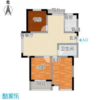 锦海星城澳洲阳光122.15㎡8、10、11#乙单元03户型3室2厅1卫1厨