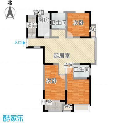 百草苑135.00㎡百草苑3室户型3室