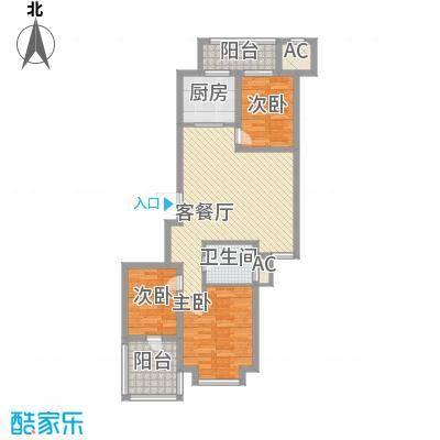 绿洲家园105.00㎡绿洲家园3室户型3室