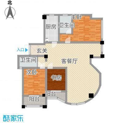 侨光苑162.00㎡侨光苑户型图E型3室2厅2卫1厨户型3室2厅2卫1厨