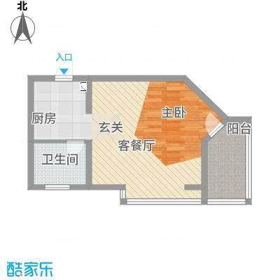 侨光苑60.53㎡侨光苑户型图C型1室2厅1卫1厨户型1室2厅1卫1厨