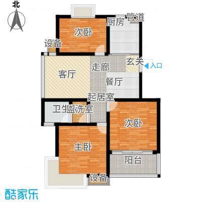 龙城花园105.65㎡龙城花园户型图9#楼甲013室2厅1卫1厨户型3室2厅1卫1厨