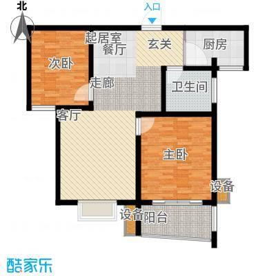 龙城花园96.34㎡龙城花园户型图7#/8#楼甲022室2厅1卫1厨户型2室2厅1卫1厨