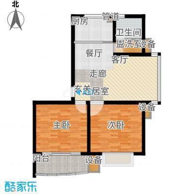 龙城花园87.63㎡龙城花园户型图10#楼甲012室2厅1卫1厨户型2室2厅1卫1厨