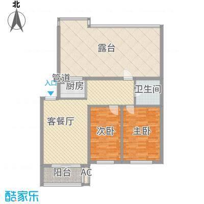 格调小区85.85㎡格调小区户型图2室2厅1卫户型10室