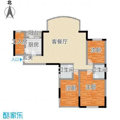 中山花园165.40㎡中山花园户型图3室2厅2卫1厨户型10室