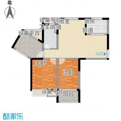 绿洲天逸城113.00㎡10#楼D1户型3室2厅1卫1厨