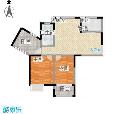 绿洲天逸城108.38㎡高层D户型3室2厅1卫1厨