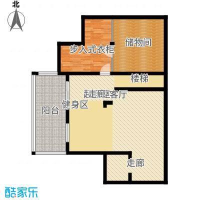 世茂御龙海湾户型图双拼C-S-B1户型 地下一层 2室2厅1卫1厨