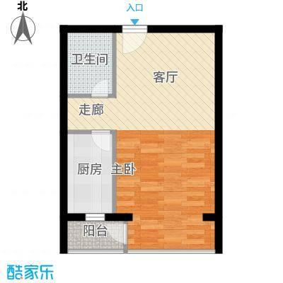 赛维利大厦户型图幸福语岸 1室1厅1卫1厨