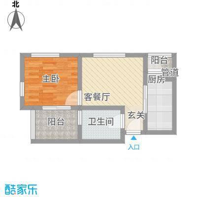 桂花园53.00㎡桂花园户型图L户型1室2厅1卫1厨户型1室2厅1卫1厨