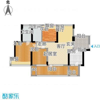潜龙曼海宁二期88.60㎡潜龙曼海宁二期户型图奇数层88平户型图3室3厅2卫1厨户型3室3厅2卫1厨