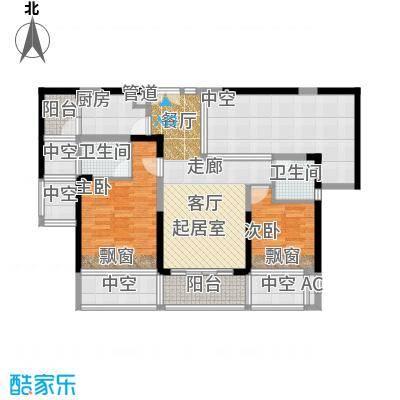 合正中央原著户型图1、3、5栋户型图 2室2厅2卫1厨