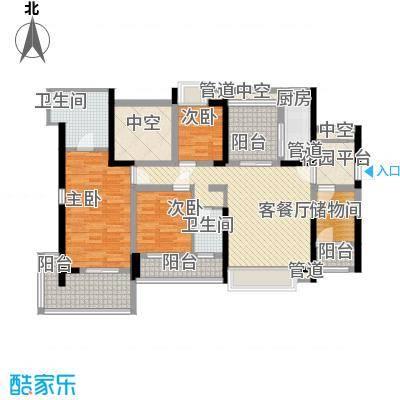 溪山145.20㎡溪山户型图户型5系南北阔景4室1厅2卫1厨户型4室1厅2卫1厨